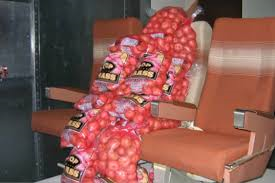 potatoes in airplane