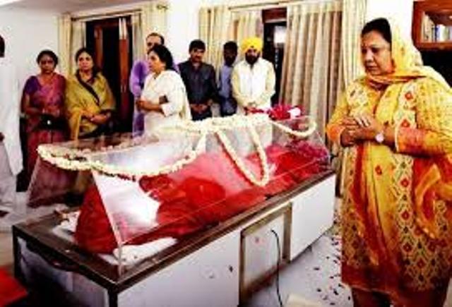 last rites  of sushma swaraj
