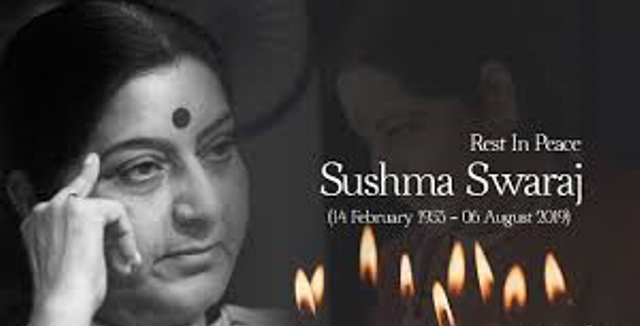 sushma swaraj rest in peace